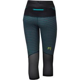 Karpos Quick Print Pantalones 3/4 Mujer, negro/Turquesa